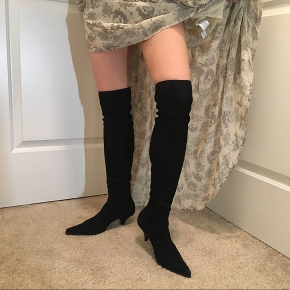 aac332dcb83 NWOT Miu Miu Over-the-Knee Suede Boots